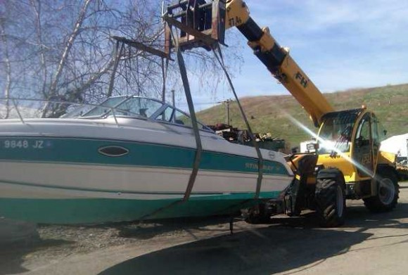 A boat moving machine