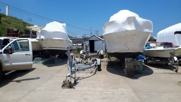 Boat storage yard