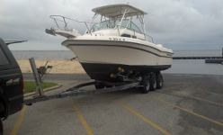 Boat haulers on Long Island