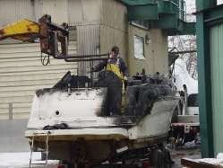 Boat Salvage Searay Long Island NY